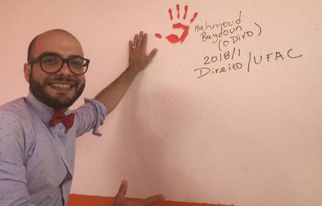 Mahmoud comemora aprovação na UFAC. Foto: Instagram/Reprodução