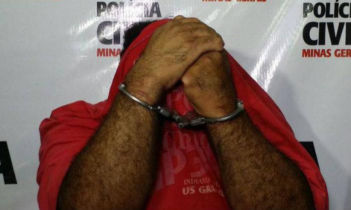 Pastor não quis responder os questionamentos de jornalistas e escondeu o rosto das câmeras durante apresentação. Foto: Paulo Filgueiras/ EM (Foto: Paulo Filgueiras/ EM)