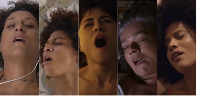 Clipe contou com um elenco de oito mulheres, com idades entre 27 e 57 anos. Fotos: YouTube/Reprodução