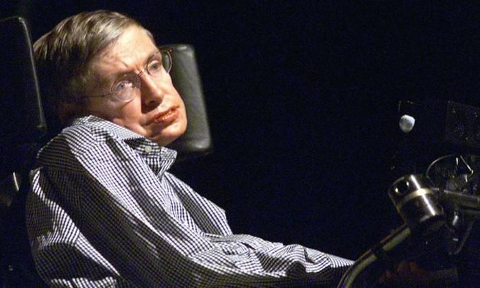 Morreu o físico britânico Stephen Hawking, aos 76 anos, que sofria de Esclerose Lateral Amiotrófica (ELA). Foto: AFP