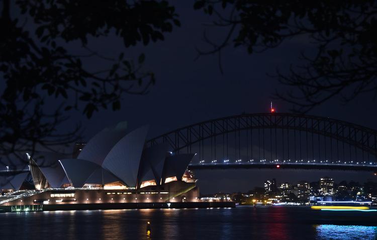 Austrália foi o primeiro país a participar da Hora do Planeta, desde 2007. Foto: Peter Parks / AFP
