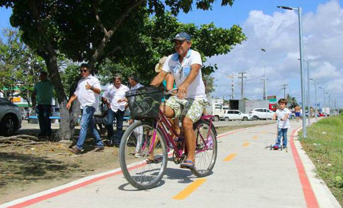 Somente nos primeiros sete dias do período de testes, cerca de 4.800 ciclistas usaram o trecho correspondente ao segundo trecho do Eixo Cicloviário Camilo Simões. Foto: Alice Mafra/divulgação PMO