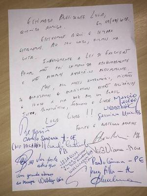 Os dez governadores deixaram carta em apoio ao ex-presidente. Foto: Reprodução/Twitter