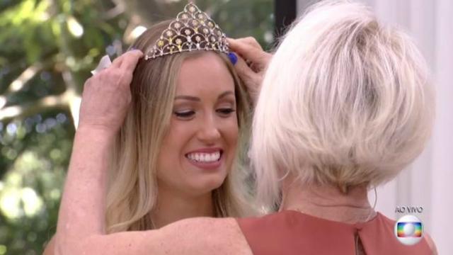 'Coroação' da ex-sister levou o programa aos Treding Topics do Twitter. Foto: Globo/Reprodução