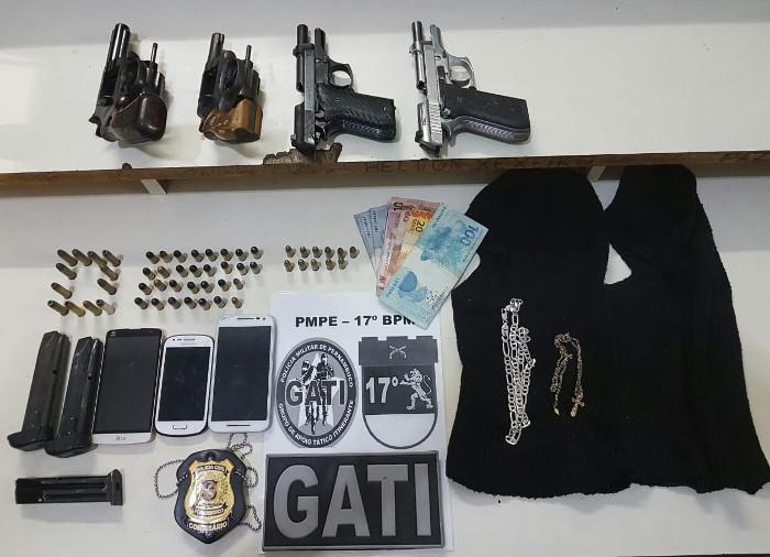 Contra todos os suspeitos há mandados de prisão em aberto. Foto: Divulgação/Polícia Militar