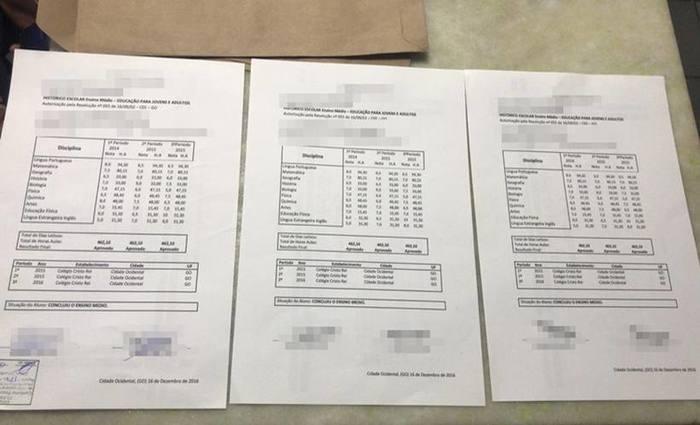 Documentos falsos eram vendidos por R$ 350, segundo a PM. Foto: PM/Divulgação