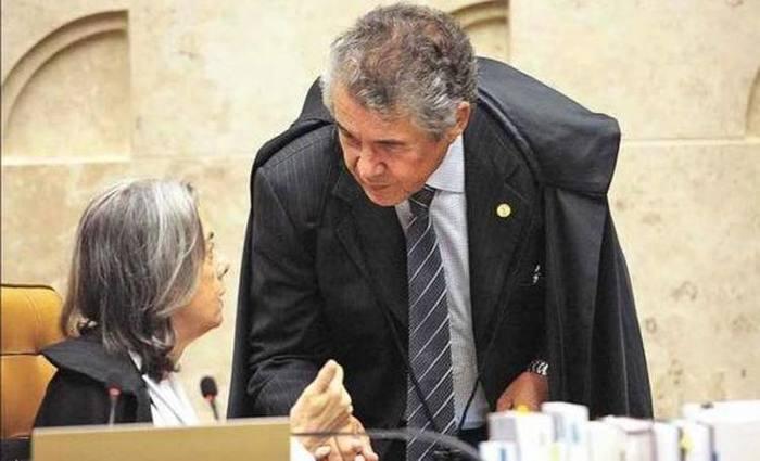 Ministro Marco Aurélio com a presidente do STF, Cármen Lúcia: ação que discute prisão após segunda instância deve entrar na pauta do plenário esta semana. Foto: Carlos Moura/SCO/STF