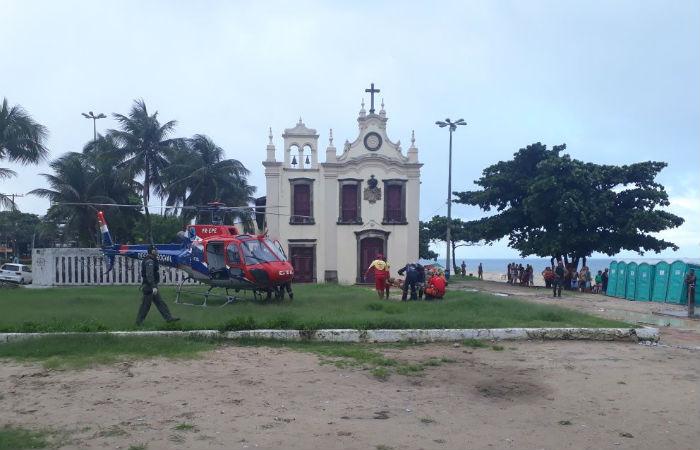 Pablo diego está entubado e permanece na Unidade de Terapia Intensiva do HR. Foto: Corpo de Bombeiros/Divulgação