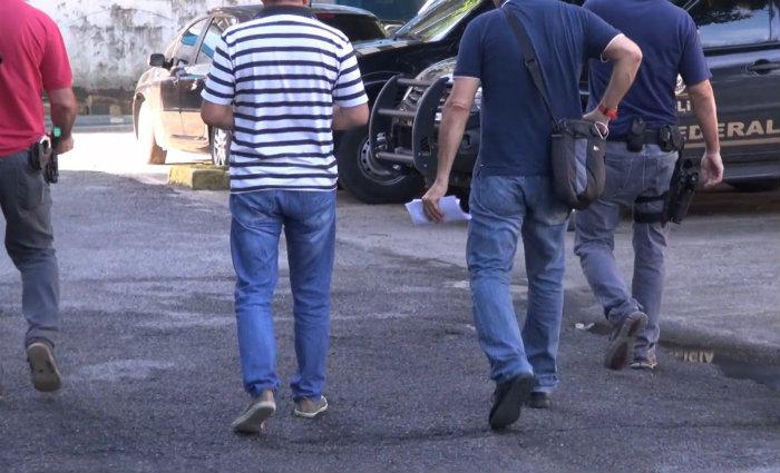 Ozéas prestou depoimento na PF e foi levado para o Cotel. Foto: Polícia Federal/Divulgação