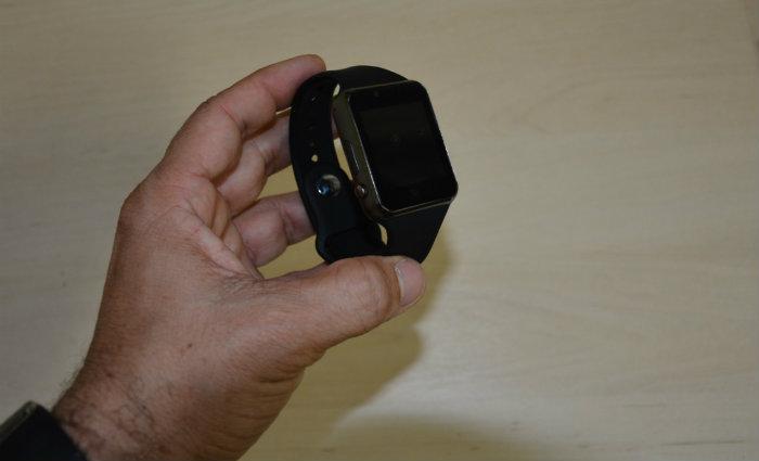 Relógio apreendido com a canditadata. Foto: Polícia Federal/Divulgação