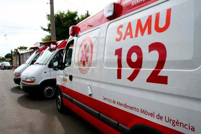 Nenhum profissional da equipe do Samu ficou ferido. Foto: Divulgação.