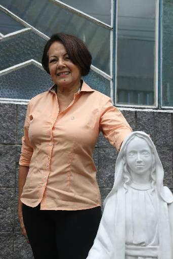 Lúcia Helena já viajou 13 vezes para a Terra Santa. Foto: Gabriel Melo/Esp DP