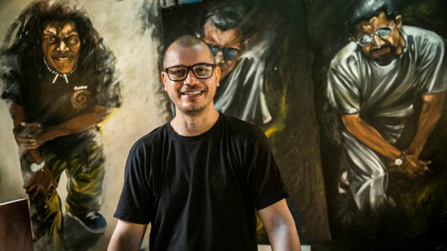 O artista também selecionou clipes, trechos de shows e um documentário para serem exibidos em uma sala audiovisual. Foto: Eric Gomes/Divulgação