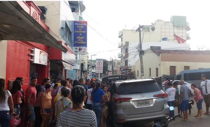 O crime ocorreu na principal via do município. Foto: Whatsapp/Divulgação.