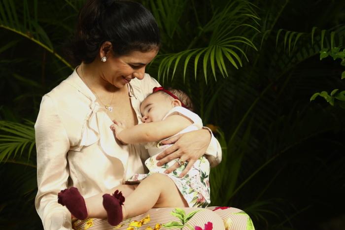 Priscilla não teve dilatação suficiente para o parto normal. Foto: Shilton Araujo/Esp. DP (Shilton Araujo/Esp. DP)