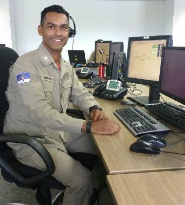 Soldado Onireves Timóteo que atendeu ao chamado e orientou a família. Foto: CBPE/Divulgação