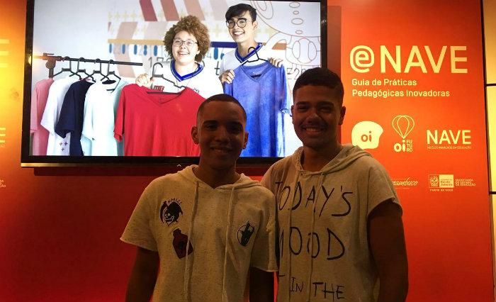 Alunos Luiz Felipe e João Victor representaram a unidade de ensino no Rio de Janeiro. Foto: Anamaria Nascimento/DP