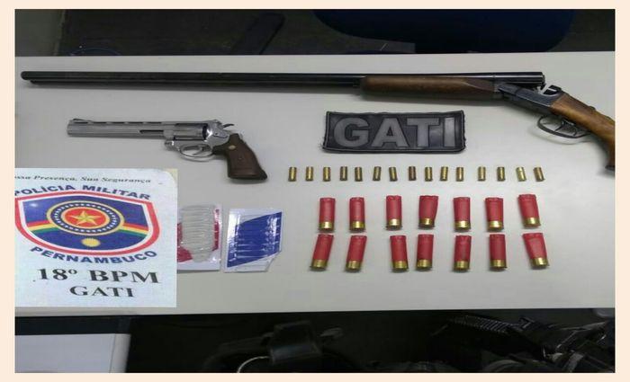 A carta e as armas foram encaminhados para o DHPP e a Polícia Civil investiga motivações do caso. Foto: Divulgação/Polícia Militar