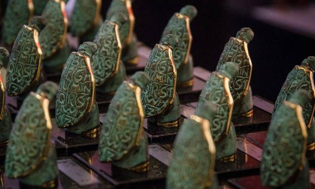Estatuetas são distribuídas aos vencedores. Foto: Divulgação/Jabuti