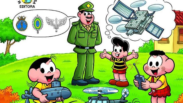 Maurício de Souza, que cedeu direitos de uso dos ídolos infantis dos quadrinhos para o Ministério da Defesa. Foto: Turma da Mônica/Divulgação