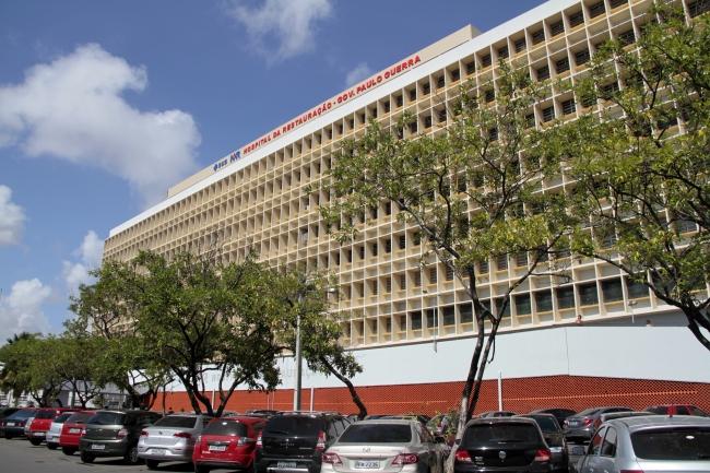 Potiguar está em repouso na enfermaria do Hospital da Restauração. Foto: Secretaria da Saúde/Divulgação