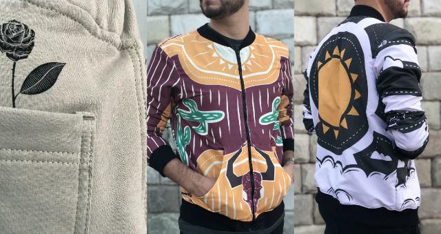 As roupas contam com estampas com traços xilográficos, divulgando a arte e costumes nordestinos. Foto: MANIFESTA!/Divulgação