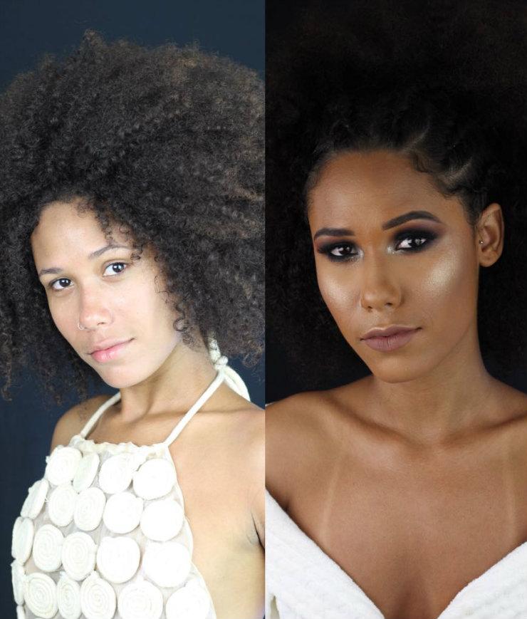 Projeto Como eu me vejo lança mão de maquiagem, penteado e sessão de fotos profissionais para valorizar a beleza natural das mulheres. Fotos: Beauty Bar/Divulgação