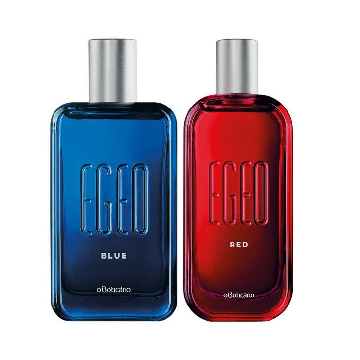 Fragrâncias Blue e Red, novas na linha Egeo, não têm rótulos de gênero. Fotos: Boticário/Divulgação