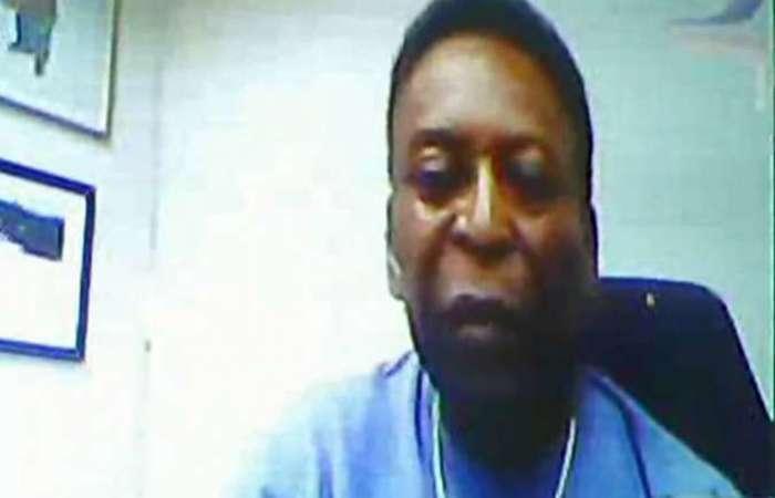 Pelé depôs à Justiça Federal do Rio, por Skype, como testemunha de defesa de Carlos Arthur Nuzman. Foto: Alex Korolkovas/Divulgação