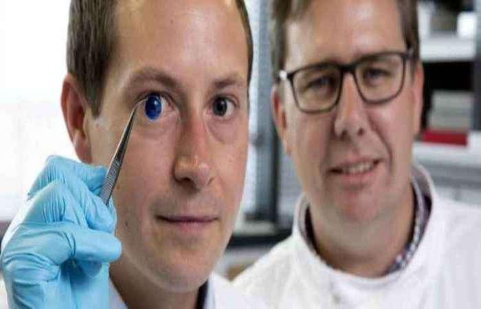 Os cientistas também demonstraram que é possível construir uma córnea correspondendo às especificações exclusivas de um paciente. Foto: John Millard/Newcastle University