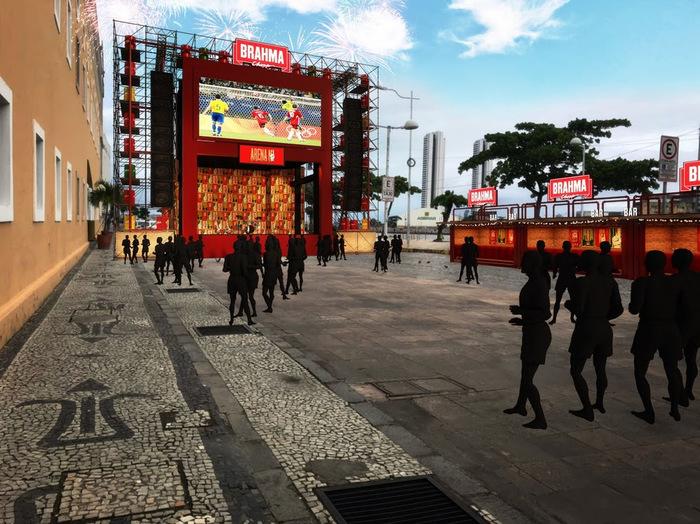 Cais da Alfândega receberá Arena durante os jogos da Copa do Mundo. Foto: Divulgação