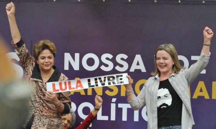 A pré-candidatura de Dilma ao Senado foi reafirmada no encontro do PT em BH. Foto: Alexandre Guzanshe/EM/D.A Press.