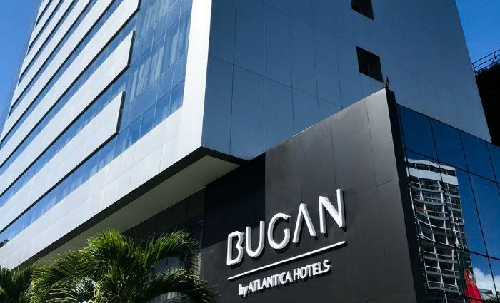 Marca Bugan Hotel by Atlantica Recife já estampa fachada de hotel em Boa Viagem. Foto: Rio Ave/Divulgação