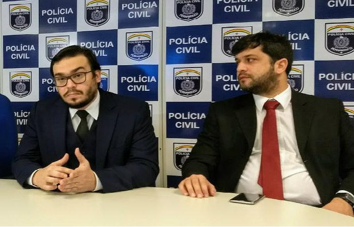 Delegados Abraão Didier e Magno Feitosa, que investigam o caso. Foto: Polícia Civi/Divulgação