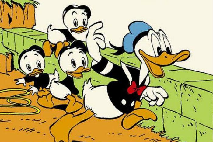 Pato Donald e os sobrinhos, Huguinho, Zezinho e Luisinho, são personagens famosos da Disney (foto: Abril/Divulgação)
