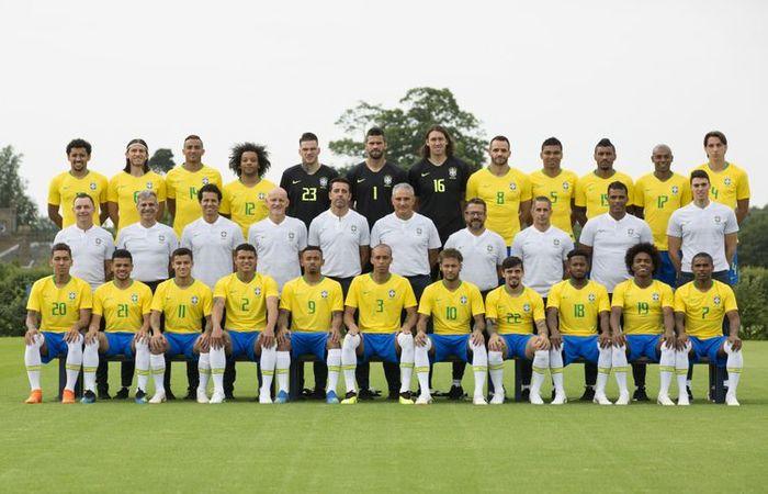 Foto oficial da seleção brasileira para a Copa do Mundo na Rússia. Foto: Lucas Figueiredo/CBF/Direitos Reservados