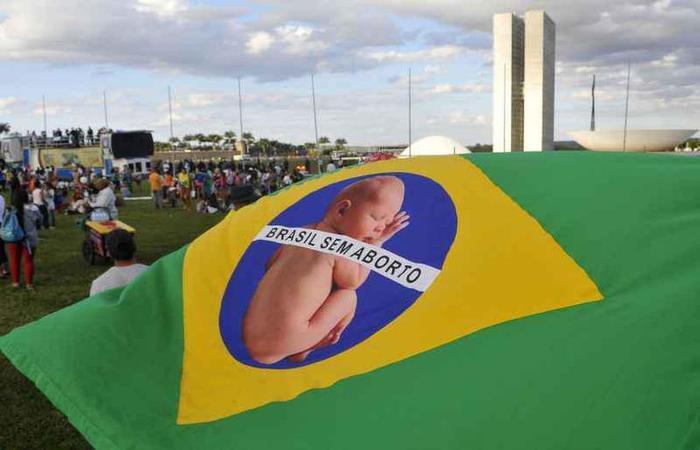 Passeata contra o aborto contra o aborto realizado na Esplanada dos Ministérios. Foto: Minervino Junior/CB/D.A Press