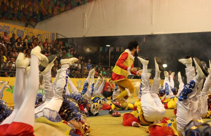 O marcador Tiago Marques chamou bastante atenção do público pela desenvoltura e condução do espetáculo. Foto: Samuel Calado/Esp.DP