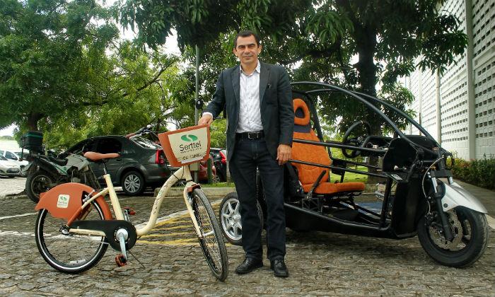 Angelo Leite afirma que novo sistema facilita encontrar a bicicleta e permite viagens mais flexíveis. Foto: Thalyta Tavares/Esp.DP