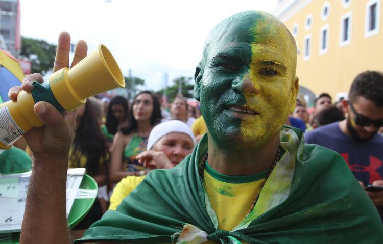 Alaercio Florencio se diz presença confirmada no local para acompanhar todos os jogos do Brasil  (Nando Chiappetta / DP)