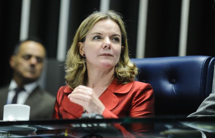 Gleisi, à época, não ocupava nenhuma função pública, apenas almejava a vaga no Senado (Foto: Divulgação/Agência Senado)