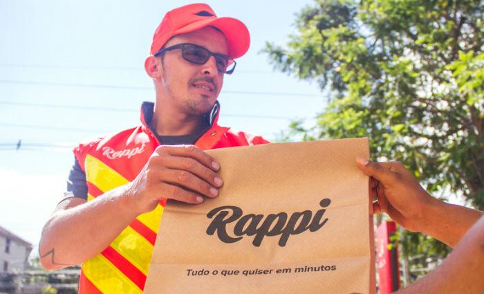 Entregadores pegam o pedido no sistema, vão no estabelecimento e entregam. Foto: Rappi/Divulgação