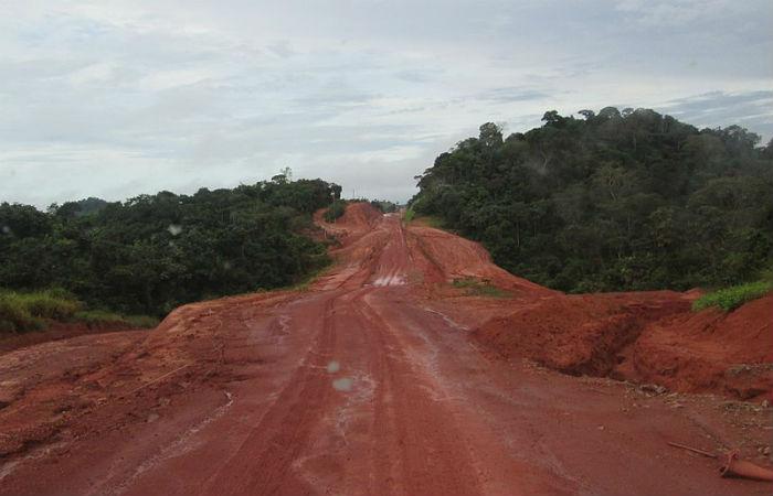 Obras da rodovia Transamazônica Foto: Keith Irwin / Creative Commons