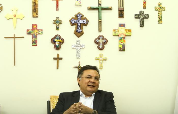 Padre Pedro Rubens destaca localização da Unicap como um fator estratégico. Foto: Peu Ricardo/DP