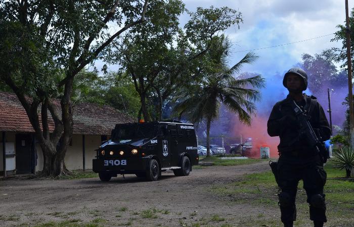 """O veículo é conhecido como """"Caveirão"""". Foto: Divulgação/Polícia Militar"""