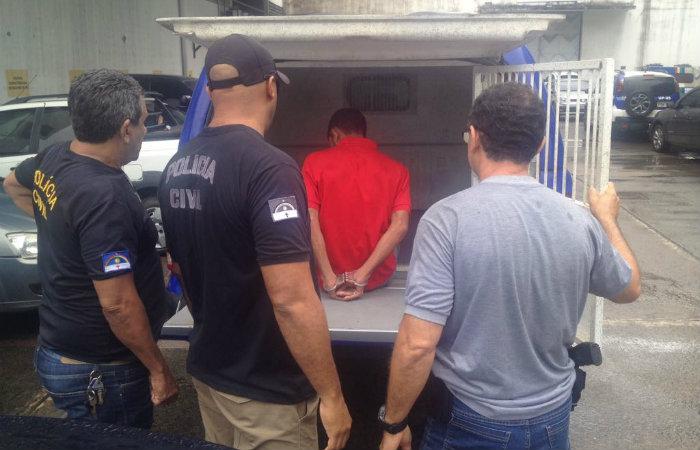 Um dos presos na operação. Foto: PCPE/Divulgação