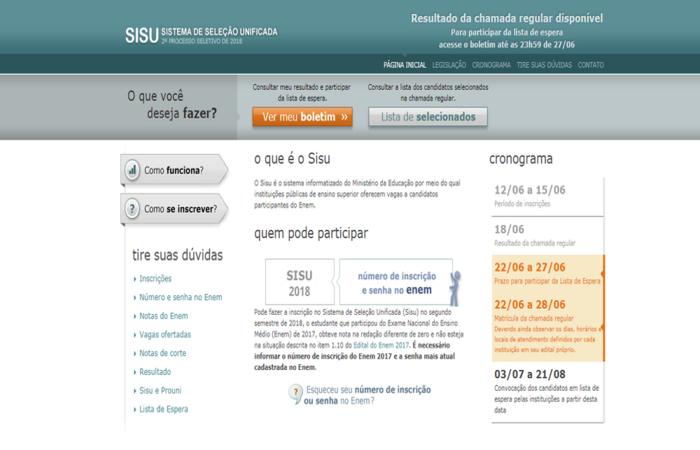 O Sisu oferece vagas no ensino superior, em instituições públicas. Foto: Reprodução/internet