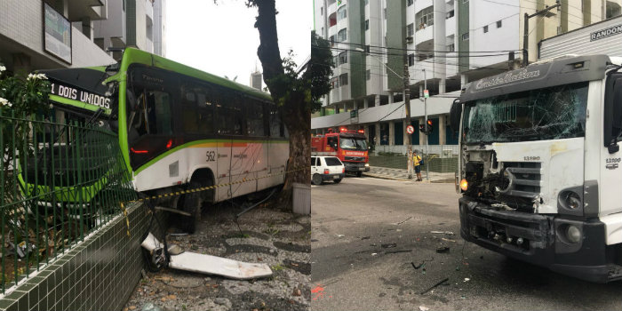 Testemunhas informaram no local que o condutor do ônibus teria ultrapassado o sinal. Fotos: Corpo de Bombeiros/Divulgação
