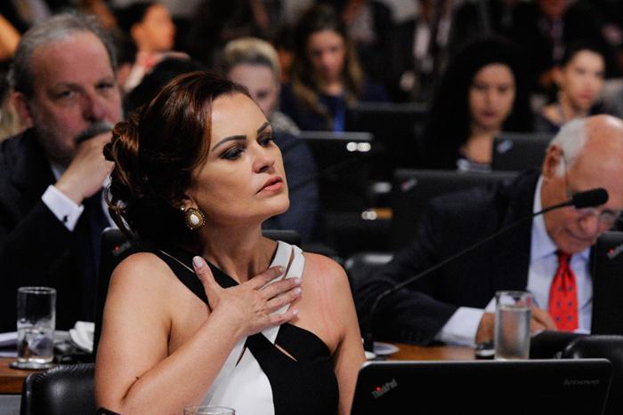 Rose Leonel dá nome a projeto de lei que tipifica crimes online contra mulheres no Brasil. Crédito: Edilson Rodrigues/Ag. Senado (Crédito: Edilson Rodrigues/Ag. Senado)