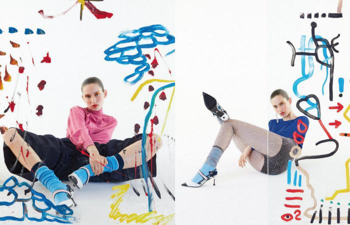 Peças das marcas Prada e Fendi em editorial de curadoria de George Krakowiak. Foto: Josefina Bietti/Divulgação
